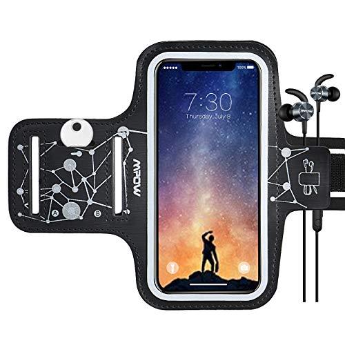 Mpow Brazalete Deportivo Compatible iPhone 11/XR/XS/X/8/7/6, Galaxy S9/ 8/7/6, Correa Ajustable, contra Sudor,Equipado con Soporte para Llave y Tarjeta, para Correr, Caminar, Senderismo, hasta 6,1