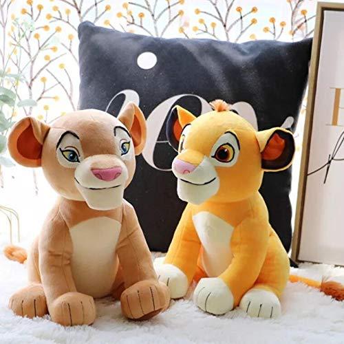 2 Stück / Set Der König Der Löwen Simba Nala Junge Simba Kuscheltiere Puppe Mufasa Plüschtier Kinderspielzeug Geschenke 28 cm