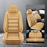 Hunulu Coprisedili per Auto in Pelle Set per Volvo Xc60 V50 V70 S60 S40 Xc70 C30 Xc90 S80 Accessori Auto Protezione per Seggiolini Auto per Auto, Standard Beige