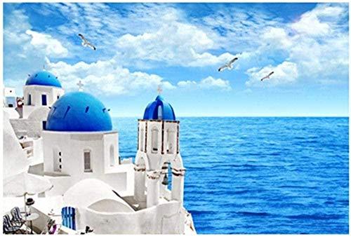 Premium Houten Puzzel Van 1000 Stukjes, Met Zeezicht, Santorini, Grieks Eiland, Volwassene Voor Jongens, Vriendinnen, Romantisch Geschenk Legpuzzel-1000 Stukjes