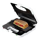 Gofrera sandwichera Sandwich Mini premium eléctrico, Panini Maker y belga Wafflera con placas desmontables 700W-2 Big Slice revestimiento antiadherente de temperatura regulable de control
