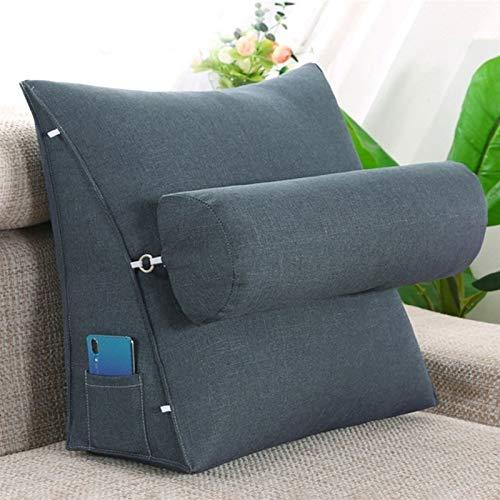 YXIAOJ Dreieckige Kissen Keilkissen Rückenlehnenstütze auf dem Bett Lesekissen Perfekte Unterstützung Einfache TV-Kissen 2 Größen verfügbar (Color : Light Blue, Size : 45 * 20 * 45)
