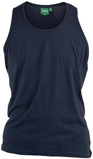 704a16daeeaea D555 - T-shirt uni sans manches FABIO marine - D555 grande taille homme 5XL