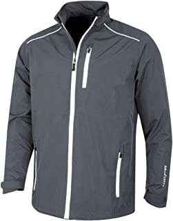 Island Green Golf IGJKT1723 Mens Zip Through Waterproof Windproof Breathable Sports Rain Jacket