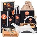 Beard Grooming Kit for 10 in 1 Beard Care Unique Gifts for Men, Beard Oil, Beard Brush, Beard Comb, Beard Balm, Beard Shampoo, Modelling Comb & Mustache Scissors Beard Growth & Trimming Kit from Sminiker