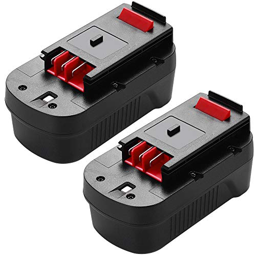 HPB18 Battery 18 Volt 3.6Ah Ni-Mh Replacement for Black and Decker 18V Battery HPB18-OPE A1718 244760-00 Firestorm FSB18 FS18FL FS180BX FS18BX 2 Pack