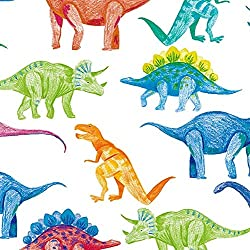 3. Party Explosions Dinosaur Doodles Gift Wrapping Paper Roll