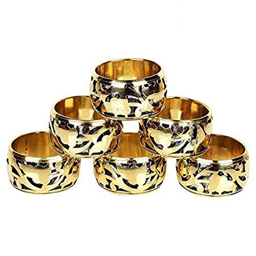 GAURI KOHLI Fijne kwaliteit messing servet ringen met mooie Latticework ontwerp (Set van 6)
