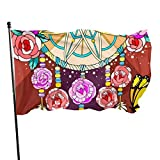 Bandera de jardín con diseño floral para atrapar sueños, decoración de temporada para el hogar, al aire libre, desfile de primavera, banderines decorativos para casa o fiesta, 90 x 150 cm