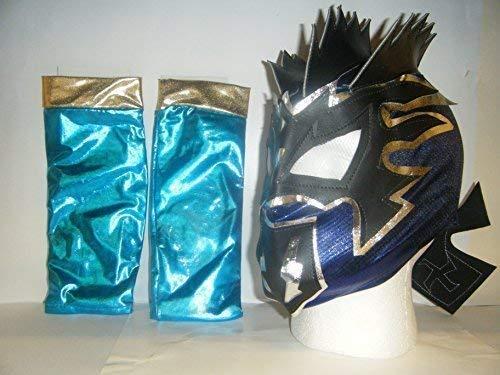 Kalisto Máscara de lucha con brazo fundas para niños