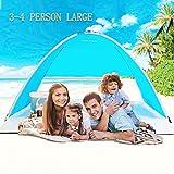 TIYASTUN Toldo de Acampada, Tienda de Campaña Familiar Plegable, A Prueba de UV, Viento Fuertes y Lluvias Finas Tienda Instantánea para Playa Pesca Senderismo (1-4 Personas)