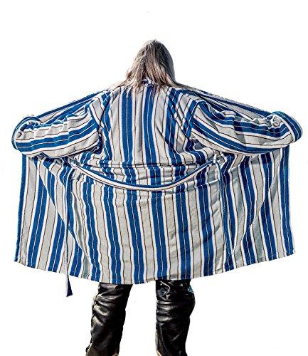Der Hamburger Bademantel Original, Blau/Weiß, XL