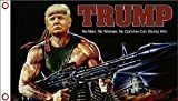 Lovely999 Donald Trump Rambo Bazooka Flag 5x3 feet Banner w Grommets Great for Hanging Inside or from Standard Flag Poles