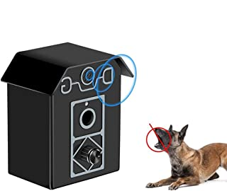 Anti Barking Device - Hamkaw Bark Stopper Waterproof Ultrasonic Bark Control, 4 Adjustable Ultrasonic Volume Levels for Small to Large Dogs,Up to 50 Feet Range