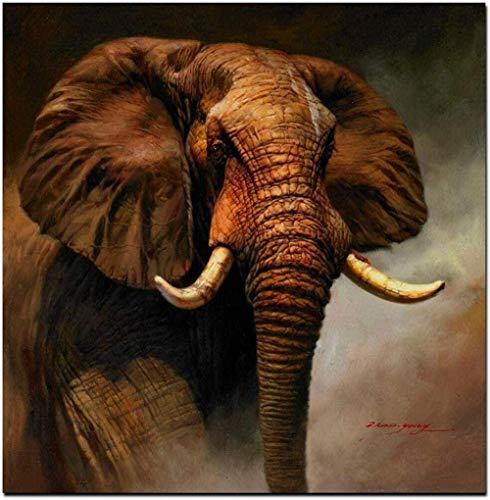 XTTGGD Holzpuzzle Puzzle Erwachsene und Kinder Stract Series Puzzle Art African Elephant Landscape Jigsaw Modern Series Puzzle Animal Series Puzzle Buntes Spielzeug zur Entspannung