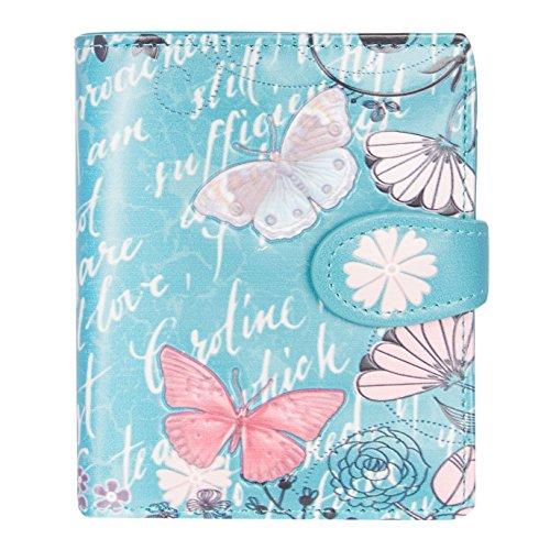Shagwear Shagwear Junge Damen Geldbörse Small Purse und Designs (Vintage Butterfly/Vintage Schmetterling Teal)