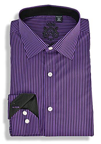 English Laundry Stripe Dress Shirt (15.5 32/33) Purple