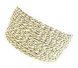 Kordel 50m x 2mm zweifarbig Creme Gold Drehkordel Kordelband Kordelschnur
