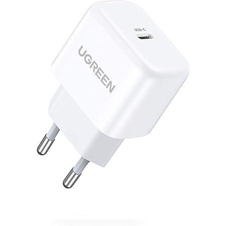 UGREEN USB C Netzteil 20W USB C Ladegerät Mini USB C Power Adapter Ladestecker kompatibel mit iPhone 12, 12 Pro, 12 Pro Max, 12 Mini, 11Pro, SE 2020, X, iPad Pro 2020, Galaxy S21, S20, A51 usw.