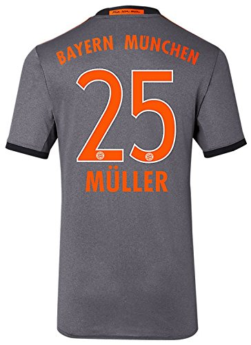 Trikot Adidas FC Bayern München 2016-2017 Away (Müller 25, L)