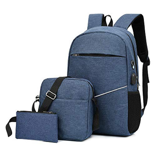 SYXLNNYYZM Traveling Backpack 3 Pieces Of Casual Multifunctional Backpack Laptop Usb Backpack Night Reflective