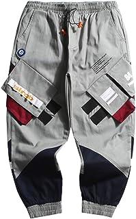 Irypulse Unisex Cargo Pantalones Combate Trousers Multi Bolsillos Flojo Táctico Ropa Calle Pants para Hombres Mujeres Jóve...