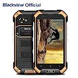 Blackview BV6000S IP68 Smartphone Libre, Impermeable Antipolvo Antigolpes Dual SIM Android 7.0 Móvil Libre 4500mAh Batería, 2GB de RAM, 16GB de ROM-Amarillo
