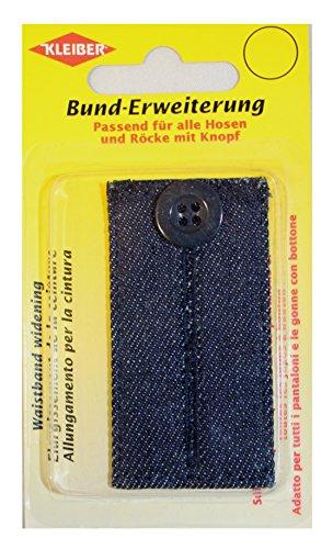 Kleiber Verlenging voor broek en rokken van 100% katoen, donker jeanskleuren