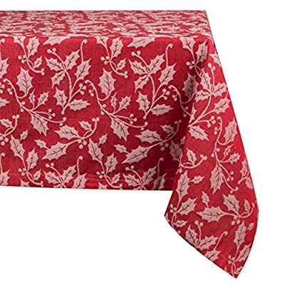 DII CAMZ10879 Cotton Tablecloth, Perfect for Autumn, Thanksgiving, Catering Events, Dinner Parties, Special Occasions Or Everyday Use, 52X52, Autumn Spice Plaid