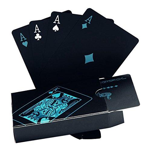 Schwarze Spielkarten Wasserdichtes Pokerkarten Profi Poker Playing Cards Karte Spielkarte Playing Cards aus Plastik Top Qualität Plastic Poker