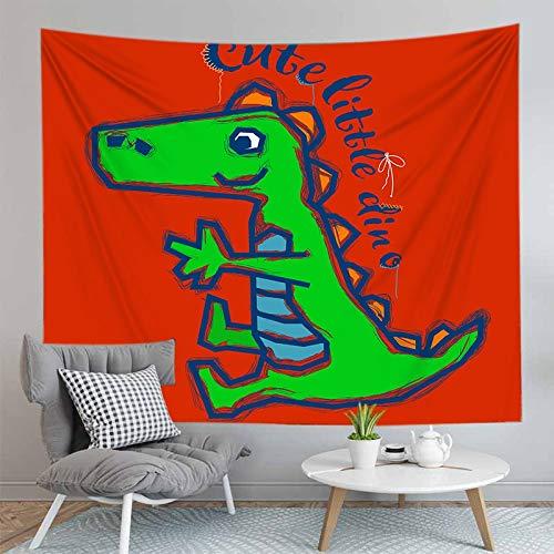 PPOU Dinosaurio de Dibujos Animados decoración de la Pared Tapiz Hippie decoración de la cabecera del hogar sofá Manta Tapiz Tela de Fondo A3 180x200cm