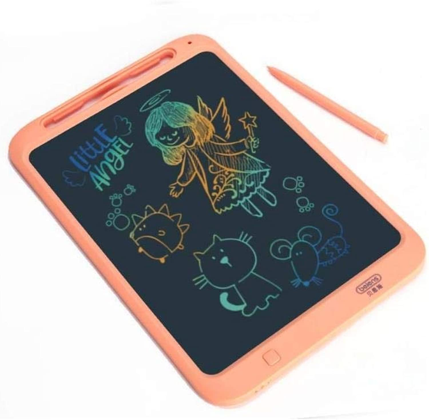 Aerth Smart LCD Sketchpad, Graffiti Painting Small Blackboard, Electronic Draft Puzzle Tablet, bluee, orange (color   orange)
