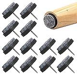 NewZC 48PCS Clavo de Almohadilla de Mueble Almohadillas de Fieltro Sillas para Muebles Sillas Protectores de Patas de mesa (22 mm) con Caja dePlástico