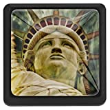 BennigiryNew York Monument Statue quadratisch Kristallglas Schranktürknauf Ziehgriffe ergonomisch Schubladengriffe 3 Stück