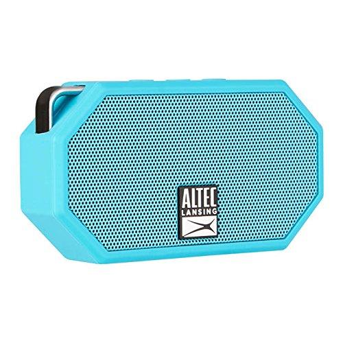 Altec Lansing Waterproof Bluetooth Waterproof Sweatproof MZX399 Earphone and Mini H20 Speaker 4 Piece Collection Set (Blue)