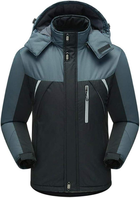 ZJEXJJ wasserdichte Herren-Jacken Outdoor-Wandern warme Kletteranzüge Sportswear (Farbe   SCHWARZ, gre   L)