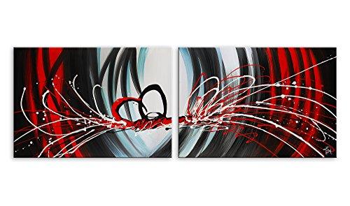 Arte dal Mondo AY029DX1 Astratto Dipinto Composto, Astratto, Telaio Estetico, Multicolore