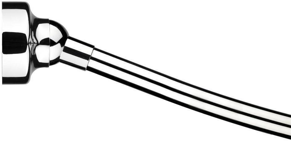 Fully Assembled Chrome Croydex AD169441YW 5-Feet Revolving Shower Rail