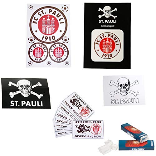 FC St. Pauli Großes Aufkleber Set 81 Sticker + 4X FANERGY Traubenzucker