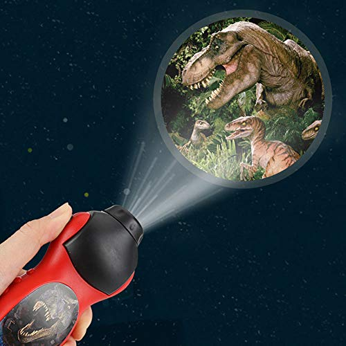 ATopoler Linterna proyector para niños, dinosaurio y mundo submarino (Dinosaurio)