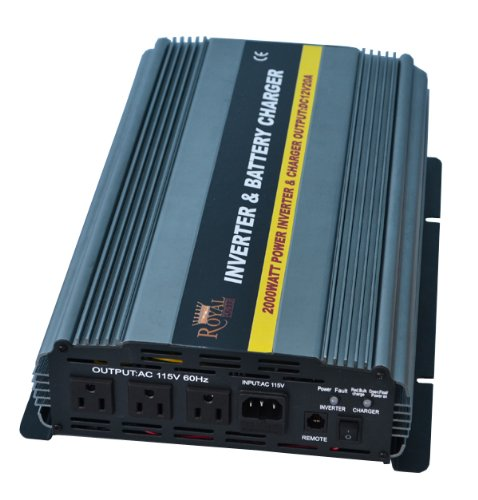Royal Power PIC2000-12 Power Inverter 2000 Watt 12 Volt DC To 110 Volt AC with 20amp Charger and Auto Transfer Switch
