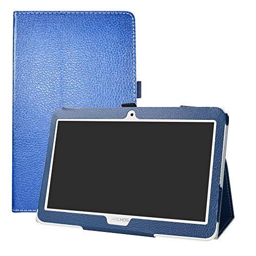 LFDZ Archos Access 101 3G Funda, Soporte Cuero con Slim PU Funda Caso Case para 10.1' Archos Access 101 3G Tablet(Not fit Access 101 WiFi),Azul