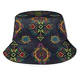 Sombrero de Pescador Unisex Lindo Fondo de Vector de Torre Eiffel Transparente Plegable De Sol/UV Gorra Protección para Playa Viaje Senderismo Camping