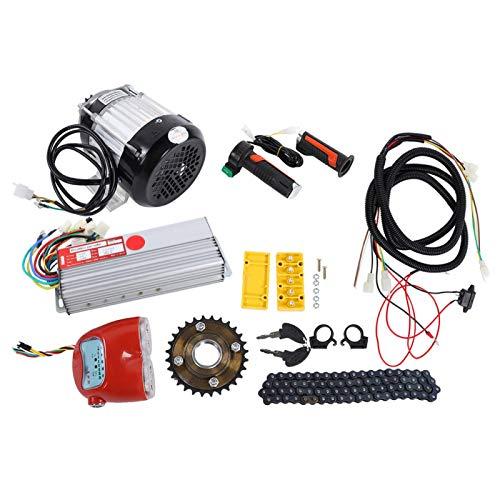 Tomanbery Kit de conversión de 48V Kit de Motor sin escobillas cómodo DIY para Bicicleta eléctrica