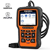 FOXWELL NT510 Elite OBD2 Code Reader for Honda Acura Automotive Scan Tool All System Bi-Directional Diagnostics Scanner ABS SRS Transmission Auto Bleed SAS TPMS EPB Oil Reset (Enhanced Version)
