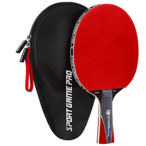 Lowest Prices! Ping Pong Paddle JT-700 with Killer Spin with Case  - Professional Table Tennis Racke...