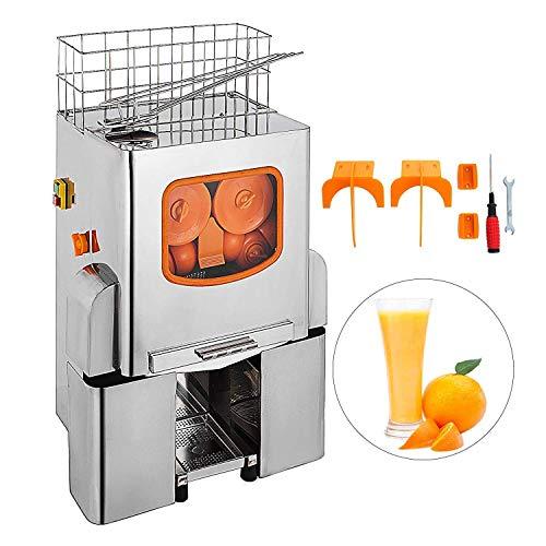 Moracle Licuadora Exprimidor Comercial Exprimidor de Naranja Eléctrico 22-25 Naranjas / Min Licuadora de Zumos Automático 120W Juicer de Naranja/Lemón Profesional XC-2000E-3 Extractor de Acero Inoxidable Máquina Comercial