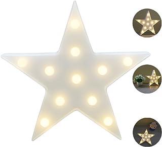 REKYO Carpa De Luz Nocturna, Lindas Lámparas LED De Pared, Sala Luz Decorativa De La Sala De Navidad Decorativos Mesa Lámpara Ánimo Luces Lámpara Infantil (Estrellas)