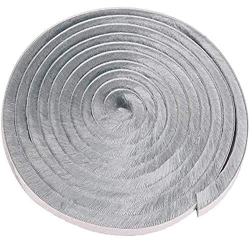 Självhäftande borsttätning Tätningslist vindtät dammtät dörrfönster tätningstejp tätningsborste självhäftande grå för skjutdörrar, fönster och garderob, tätningsborste (5m, grå)