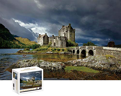 FITIFO 1000 Piece Jigsaws Puzzles for Adults Teenagers Kids,Jigsaw 1000 Pieces Ideal for Playing at Home Entertainment Toys Home Decor,Birthday for Dad Mother (70x50cm) (Eilean Donan Castle)